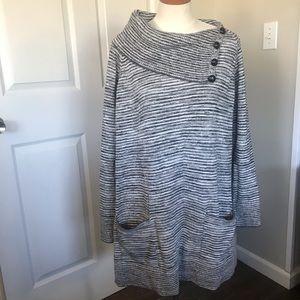 Eight Eight Eight Woman Cowl Neck Sweater